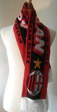 AC Milan Futbol Soccer Scarf Red Black & White