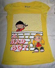"T shirt BSK by BERSKA GIALLO ""A Bad Boy"" MAGLIA Sport M SALDI 50%"