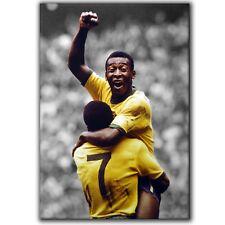 PELE Brazil Iconic 1970 World Cup Goal Celebration ~ Canvas Print ~ 5 Sizes NT02