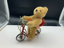 Hermann Teddy Bear/Scooter Tin Toys 7 1/2in Limited Edition