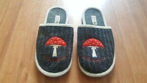 Adelheid Glückspilz  Hausschuhe Schuhe Filz grau Mädchen Damen Gr. 37