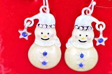 Festivo muñeco de nieve pendientes excelente Regalo de Navidad Navidad gear