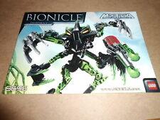 Vintage LEGO Instruction Manual Bionical Mistika 8095