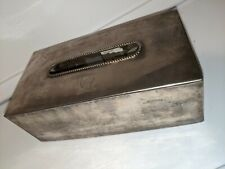 Vintage Tommy Hilfiger Silver Plated Tissue Box Holder Cover 1998 Very Limited