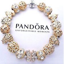 Authentic Pandora Charm Bracelet Silver with ANGEL LOVE GOLD European Charm