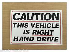 140x90mm RIGHT HAND DRIVE STICKER SIGN CAMPER HGV