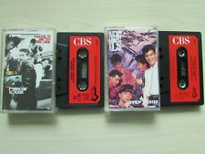 2 X NEW KIDS ON THE BLOCK CASSETTES, HANGIN' TOUGH / STEP BY STEP, TESTED.