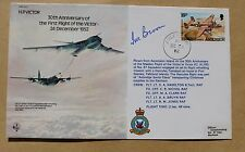 H.P. VICTOR  30TH ANNIVERSARY 1982 COVER SIGNED BY AIR MARSHAL SIR IVOR BROOM