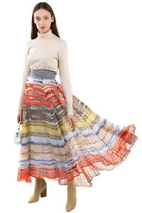 RRP €1300 MISSONI Knitted Flare Skirt Size 38 / XS Alpaca Mohair & Wool Blend