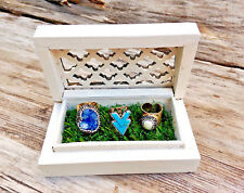 Custom Grass Jewelry Display Box Liner Ring Placemat Runner Party Prop Boho Gift