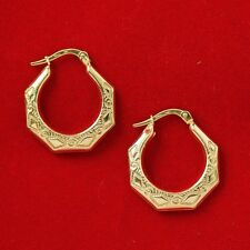 NEW 9ct Yellow Gold Hoop Earrings Hallmarked 375 Made in Italy Free Shipping Opt
