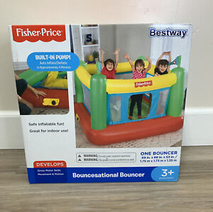 Fisher-Price Bouncesational Bounce House with Built-in Pump - New In Box