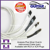 Analysis Plus Silver Oval-In Interconnect Cable, PAIR, 3.0 Meters, XLR-XLR