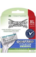 Wilkinson Sword Quattro Titanium Sensitive Rasierklingen 5 klingen)