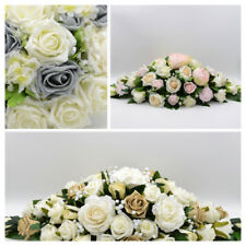 Artificial Wedding Flowers Silk Top Table Decoration Arrangement in 62 Colours