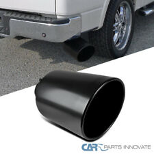 "8"" Outlet / 4"" Inlet Black Stainless Steel 15"" Long Bolt On Diesel Exhaust Tip"