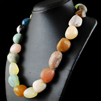 Genuine 1296.50 Cts Natural Multicolor Multi Gemstone Untreated Beads Necklace