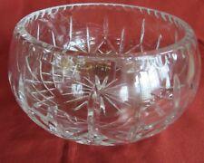 Vintage Zawiercie Laurencie Large Cut Glass Crystal Bowl Pinwheel pattern Poland