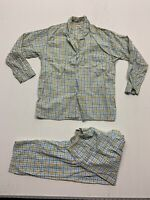 VINTAGE medium GINGHAM PLAID pajama Shirt VINTAGE