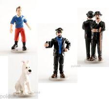 Les Aventures de Tintin lot de 4 figurines Capitaine Hadock Milou Dupond Dupont