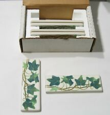 "Vintage Kohler Reveries, Rustic Country Peonies Ivy 14203-PS-96  2""x6"" Tiles"