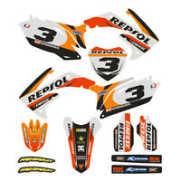 Customized Full Graphic Decals Kit Sticker For Honda CRF450R 2009-2012 Motocross