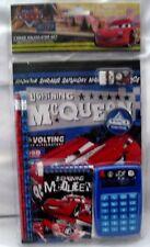 Disney Pixar Cars Lightning McQueen 7 pc Calculator Stationary Set-Brand New!