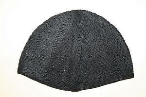 Cotton Crochet Turkish Kufi Topi Koofi Skull Head Cap Black/Blue/Green/White NEW