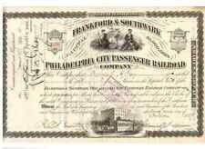 Frankford & Southwark Philadelphia City Passenger Railroad 1889