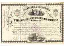 Frankford & Southwark filadelfia City passenger Railroad 1889