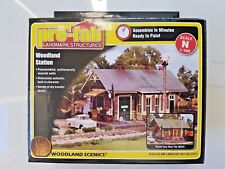 Woodland Scenics 1/160 N Scale Woodland Station Pre-Fab Structure Kit Pf 5207 Fs
