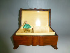 VINTAGE REUGE DANCING BALLERINA MUSIC JEWELRY BOX WOODEN CASE (WATCH THE VIDEO)