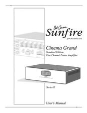 Carver Sunfire Cinema Grand series II Amplifier Owners Manual