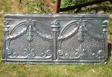 Sale Antique Victorian Gothic Ceiling Tin Tile Torches Holly Swag Chic Fleur De