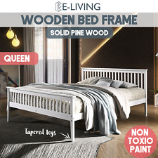 Solid Wood Queen Beds And Bed Frames Ebay