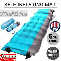 Outdoor Camping Inflatable Mattress Air Mat Pad Thick Hiking Sleeping Bed Tent