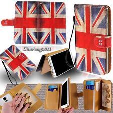 Leather Flip Card Wallet Stand Cover Case For Various Karbonn SmartPhones+ Strap