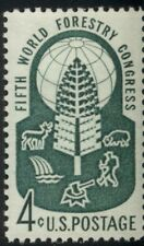 #1156, 4¢ World Forestry, Lot 400 Mint Stamps, Spice Your Mailings!