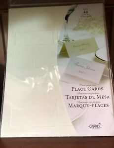 GARTNER Ivory PEARL PLACE CARDS 48 Count 83004 PRINTABLE-LOT OF 3 Wedding