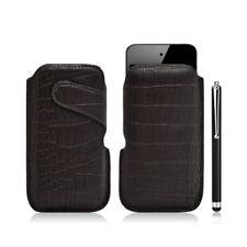 Housse coque étui pochette style croco pour Apple Ipod Touch 4G + Stylet