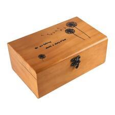 Retro Wooden Sewing Kit Storage Box Case Thimble Thread Needle Organizer Gift