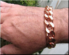 Solid Copper Men's 8 1/2 Inch Link Bracelet CB639G - 5/8 of an inch wide -Thick.