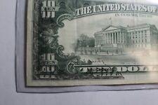 1988 $10 Federal Reserve Note Off Print Error Front Ink Fold Over Back