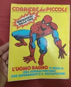 CORRIERE DEI PICCOLI n.35 1981 CON GIOCAPOSTER de L'UOMO RAGNO Sped inclusa!