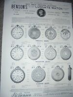 J W Benson Benson's Ludgate Watch advert 1885 ref AM