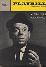 1960 Playbill A Thurber Carnival Tow Ewell Peggy Cass Paul Ford Alice Ghostly