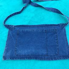 Denim Waist Apron Blue Bell Uniform Designs Ea Strap 29� Flap 18� X 10.5� S/M