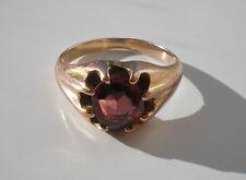 Stunning Antique Edwardian 9ct Gold Garnet set Ring c1910; UK Ring Size 'I 1/2'