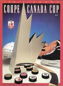 Canada Cup 1991 Official Program USSR Russia Canada USA Czech Finland Sweden