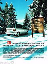 PUBLICITE ADVERTISING 065  2000   le nouveau  Citroen Evasion hdi